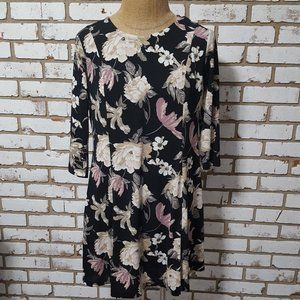 Cato Multi Color Floral Dress, XL, Lined